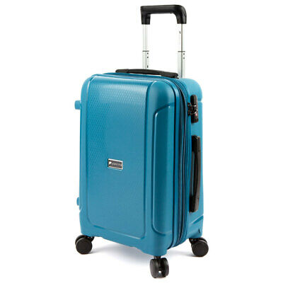 Paklite Twilite Cabin Luggage/Suitcase RFID Blocking Travel Case 56cm Blue