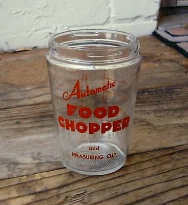 Vintage OWENS ILLINOIS Automatic Food Chopper & Measuring Cup BOTTOM GLASS ONLY