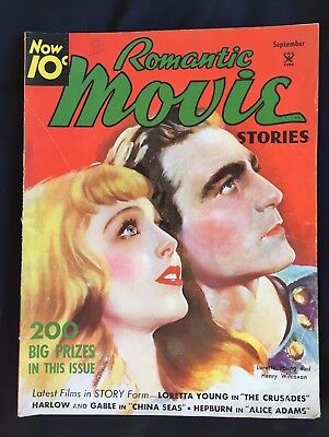 Vintage Romantic Movie Stories Magazine ~ Loretta Young Cover ~ September 1935