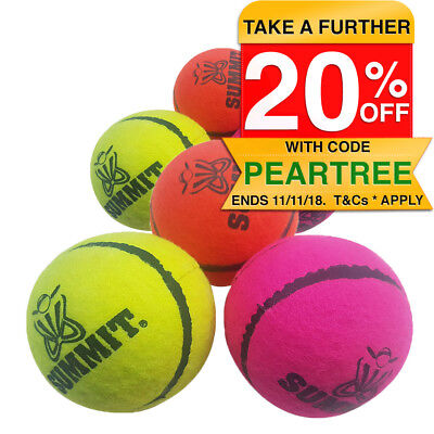 2x Fearnley Bouncer 3 PK Tennis Balls Designed For Cricket Backyard/Street/Beach