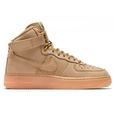 New Nike Youth Air Force 1 High WB GS Shoes (922066-203) Flax/Flax-Outdoor Green