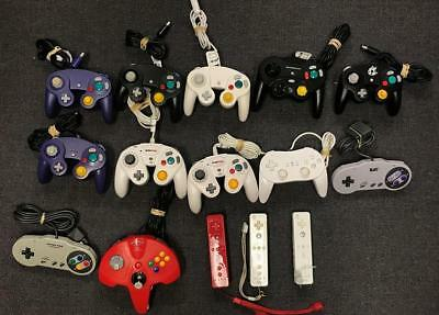 Lot of 15 DEFECTIVE Nintendo Controllers for Various Consoles