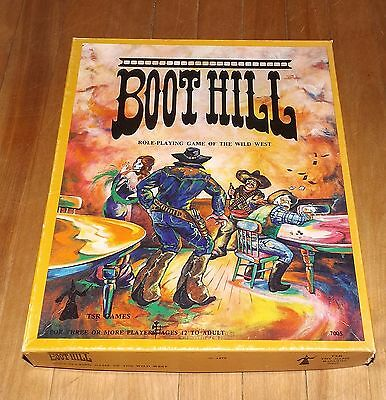 BOOT HILL unpunched role playing game TSR 2nd edition first printing