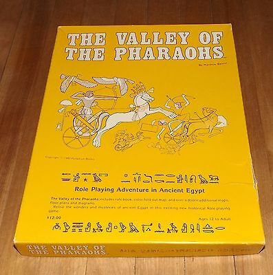 THE VALLEY OF THE PHARAOHS role playing game 1983 PALLADIUM BOOKS