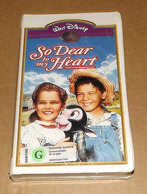 NEW So Dear to My Heart (VHS, 1992) Disney's Masterpiece Collection hologram