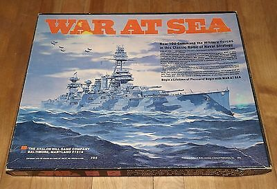 WAR AT SEA game complete AVALON HILL 1976