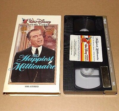 DISNEY'S The Happiest Millionaire (VHS, 1982) Fred MacMurray