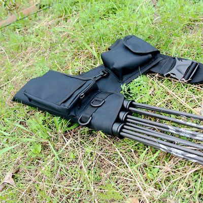 Archery Accessories Oxford Cloth Black Waist Quiver Hunting Arrows Holding Equip