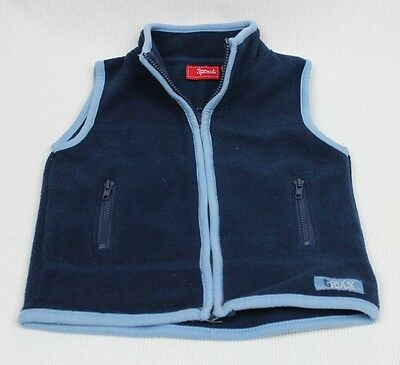 Boys SPROUT Fleece Blue Vest / Size 00
