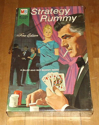vintage 1968 Milton Bradley STRATEGY RUMMY factory sealed NEW
