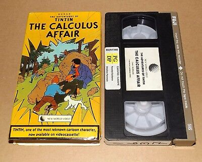 The Adventures Of Tintin vhs video THE CALCULUS AFFAIR