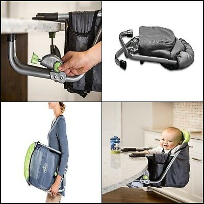 Hook On Table Clamp High Chair Child Baby Infant Portable Booster Seat Clip On