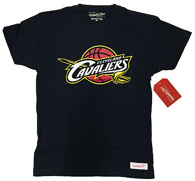 CLEVELAND CAVALIERS Logo:MENS T-shirt by Mitchell & Ness:NEW:SMALL