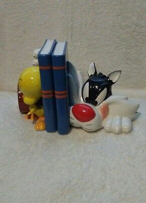 Warner Brothers Rare Applause 1994 Sylvester And Tweety Bird Bookends