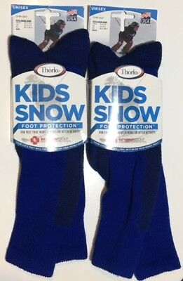 Thorlos Kids Snow Over-Calf Socks Foot Protection, Youth Various Sizes Unisex