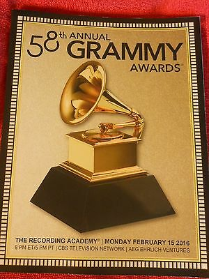 2016 58Th Grammy Awards Program Taylr Swift Kendrick Lamar Priority Padded Mail