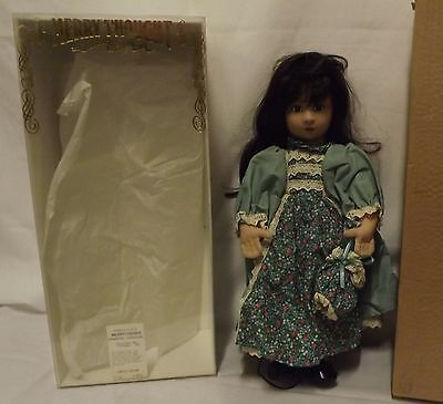 "Boxed 18"" Merrythought Brunette Cloth Doll 'stephanie' (002) Ltd. Ed."