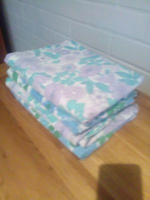 Vintage Retro 60s 70s single bed sheet sets craft fabric