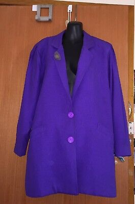 Vintage Vicky Mar Jacket Fashion Designer Brand Style Purple