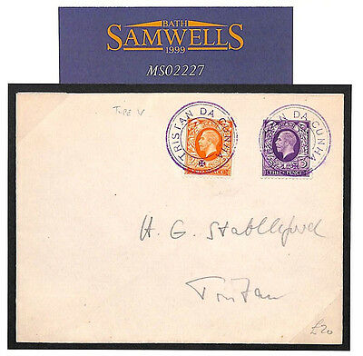 MS2227 1936 GB USED ABROAD KGV Photogravure Cover TRISTAN DA CUNHA Type V Cachet