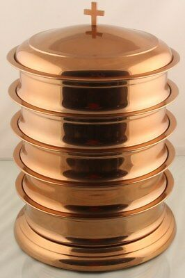 Halloween Set of 5 Communion Tray With One Lid and Base (Mirror Copper Finish)
