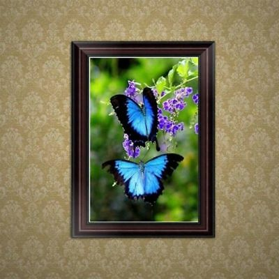 New 5D Diamond Embroidery DIY Painting Butterfly Cross Stitch Kit Home Decor UK