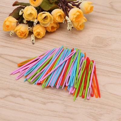 New 100pcs Children Kid Plastic Needle Tapestry Binca Sewing Wool Yarn Knitting