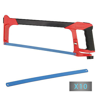 "12"" 300mm HEAVY DUTY QUALITY DURABLE HACKSAW + 12 BLADES HACK SAW 24TPI"