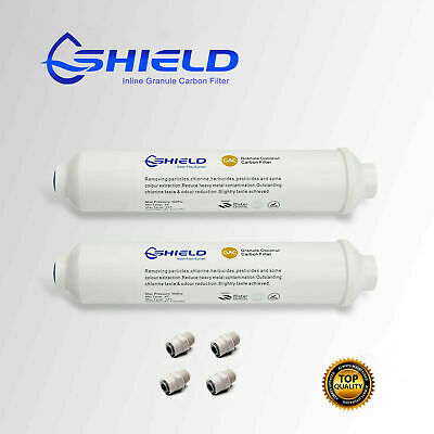 2 x In Line Carbon Fridge Water Filters | Inline Filter Samsung Westinghouse LG