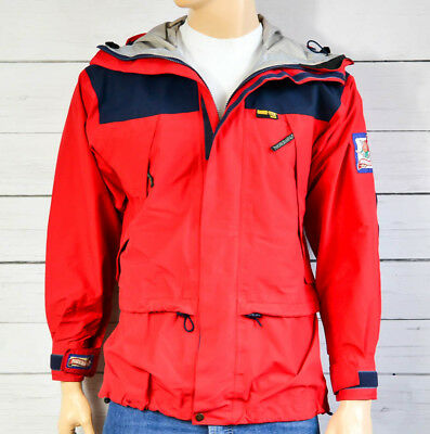 NORRONA Gore-Tex XCR Waterproof Red Mens Jacket Walk Sailing Outdoor Size Large