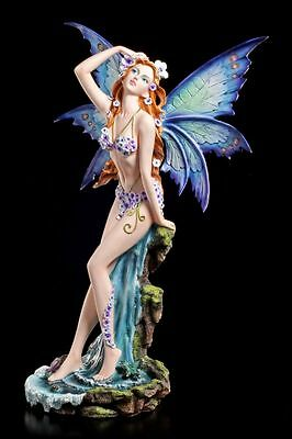 Elves Figurine - Assana Before Waterfall - Flowers Bikini Blue Purple Fairy