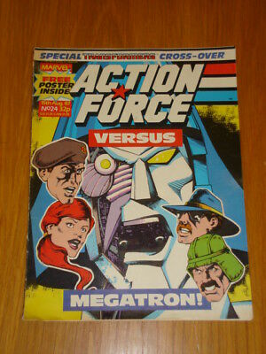 Action Force #24 1987 Aug 15 Marvel British Weekly With Free Poster