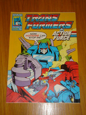 Transformers British Weekly #210 Marvel Uk Comic 1989