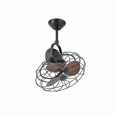 FARO Ventilatore a soffitto marrone KEIKI moderno retro orientabile regolabile
