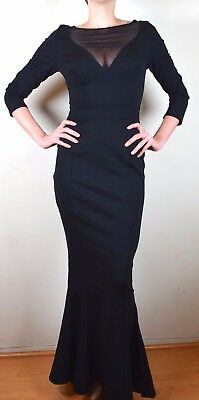 Elvira Couture Vampire Goth Gown M & L made in bewitching black point di roma