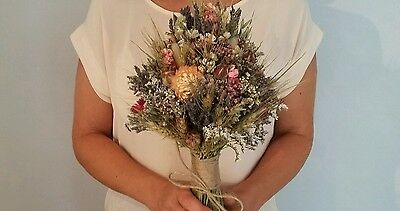 Stunning Large Bridal Wedding Bouquet. Made To Any Design. Natural Dried Flowers