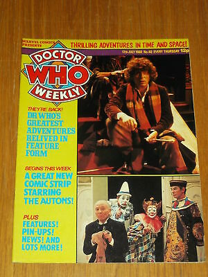 Doctor Who #40 1980 Jul 17 British Weekly Monthly Magazine Dr Who Dalek Cybermen