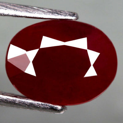 2.64Ct.dazzling! Oval Facet Top Blood Red Natural Ruby Madagascar