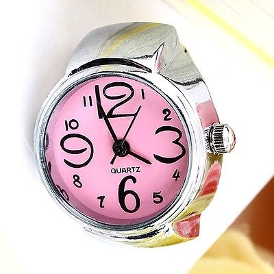Very Smart  Ladies // Girls Pink Quartz Ring Watch With Flexible Fit All Band