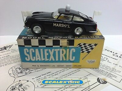 SCALEXTRIC Tri-ang 1960's E5 MARSHAL'S CAR in BLACK (EXCELLENT - BOXED'ish +)