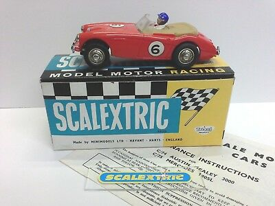 SCALEXTRIC Tri-ang 1960's C74 AUSTIN HEALEY 3000 RED #6 (BOXED'ish) EXCELLENT