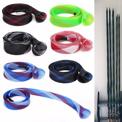 Expanable Braided Mesh Fishing Rod Pole Sleeve Cover Glove Protector Jacket 40mm