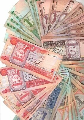 Jordan - collection of old banknotes