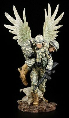Guardian Angel Figurine - Rettet Wounded Soldiers - Angel Statue