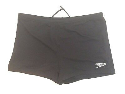 Boys Black SPEEDO Endurance+ Boxer Style Swimming Trunks Age 12 Years - Shorts