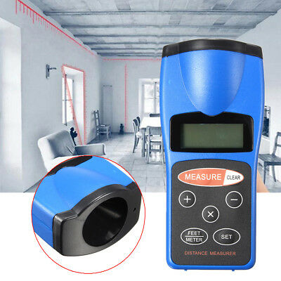 18m/60ft Ultrasonic Digital Laser Distance Meter Rangefinder Measure Diastimeter