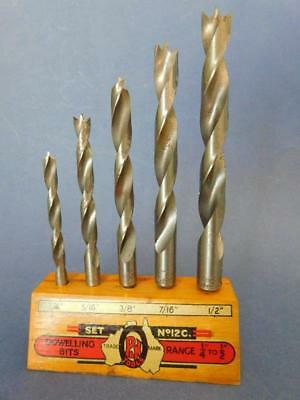 Vintage Australian Drill Bits in Stand c1950s Patience & Nicholson Maryborough
