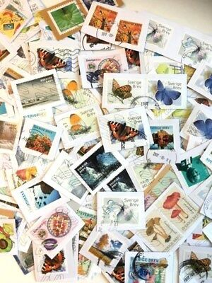 Sweden Kiloware Cuts of Swedish Stamps 50gr Very nice! Newest!