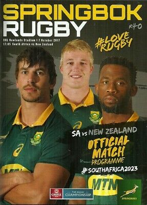 South Africa v New Zealand 2017 Rugby Championship Match Programme
