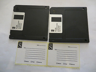 """Four 3.5"""" 1.44MB formatted HD floppy disks in  4xBlack, New with labels."""